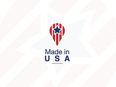 Made In USA logo concept made in usa logo made in the usa madeinusalogo usalogo icon vector illustration nikstudio simple creative symbol madeinusa mark logo