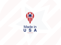 Made In USA logo concept
