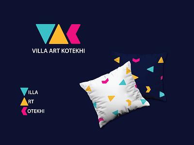 Villa Art Kotekhi monogram typography colorful nikstudio simple symbol creative vector logo villa