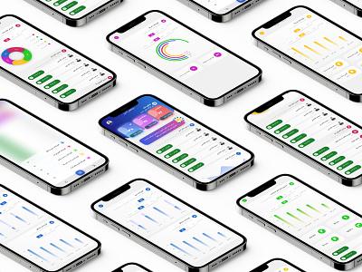 Analysis Application mobile app mobile app design application dashboard app dashboard ui dashboad analytics analysis pie chart mobile ui adobe xd chart home page mobile app design design app ux ui