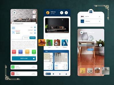 Decoration Application ui  ux application ui shopping app application furniture interior mobile ui popup finance decorative decoration adobe xd app design mobile home page app ux ui