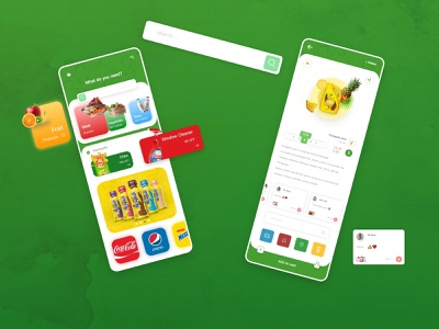 Grocery Store Application ui design ui  ux uiux comment search product page online shopping online shop grocery grocery app application adobe xd app design mobile home page photoshop design app ux ui