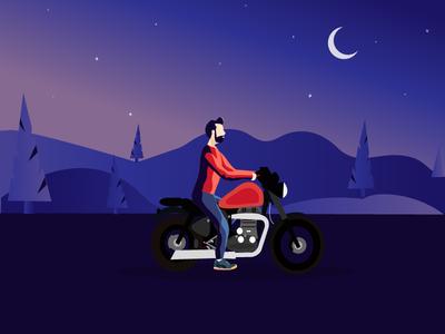 Man riding in Bike
