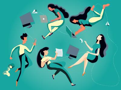 Workspace people illustration