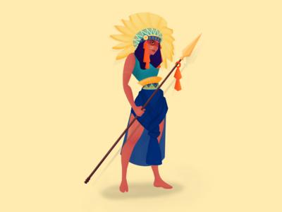 Tribal  warrior woman