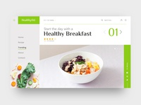 Healthy Breakfast Web Header Concept