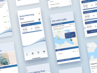 Sailing Plan trip user experience ux navigation mobile mobile app interface design sailing app ui clean