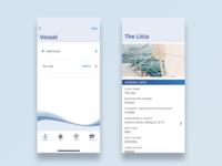 Vessel Information water blue mobile app ux information boat interface sailing app mobile design ui clean