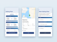 Sailing Plan Info mobile app product design ux design schedule map sailing mobile design interface mobile app ui design clean