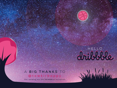 Hello_Dribbble_thank_you