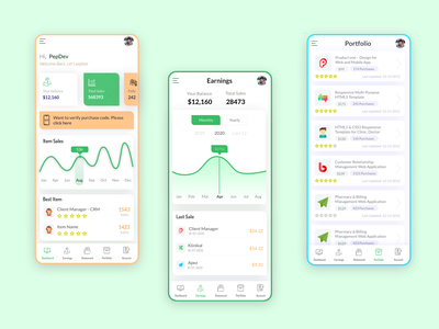 Finance & Product Mobile products sales mobile ui mobile application apple mobile app design mobile app earning finance earnings comparison chart application app design app