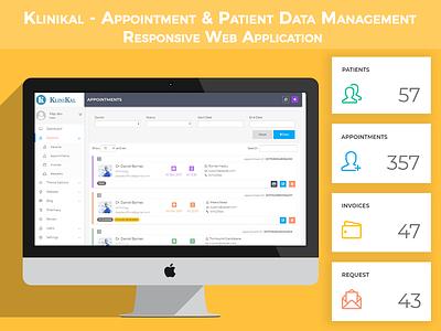 Klinikal - Appointment & Patient Data Management patient appointment envato web ui themeforest css3 html5 photoshop