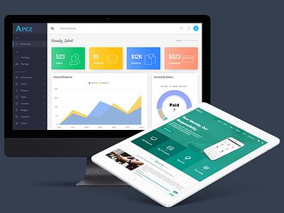 APEZ - Responsive Multi-Purpose HTML5 Template calendar project invoice client startup envato web ui themeforest css3 html5 photoshop