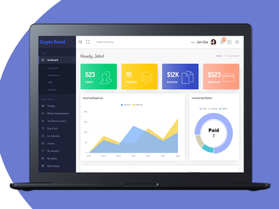 Client Manager - CRM & Billing Management with GDPR Compliance web ux interface user ui codecanyon envato dashboard gdpr crm