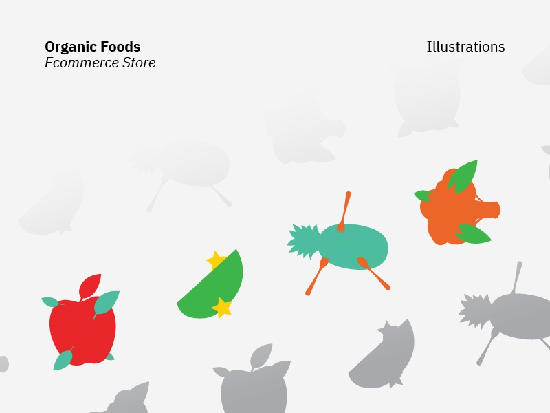Organic Foods | Ecommerce Illustrations vector ecommerce food organic illustration