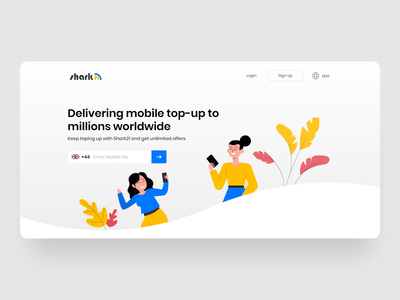Mobile Top Ups Landing Page web ui