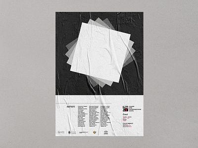 Poster MACS - Museo Arte Contemporaneo Sicilia 2/3 posterdesign museum graphicdesign graphic dribbble design contemporary branding brandidentity art