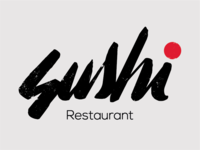 Logo concept X Sushi restaurant