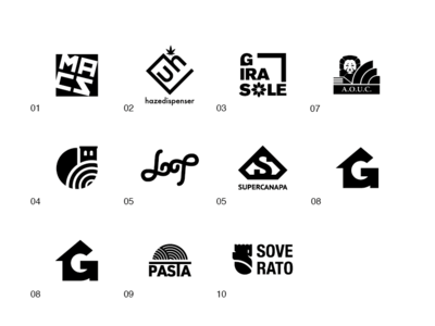 LOGOFOLIO N°18 symbol monochrome top 10 identity marks collection exposition branding visual logo