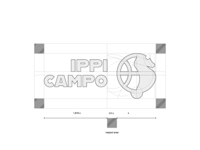 Ippicampo Logo Grid sports design sports logo logodesigner logotype technical drawing table proportion grid mark logo