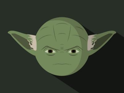 Yoda lightsaber jedi darkside force yoda star wars minimalism illustration graphicdesign artwork adobe illustrator
