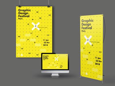 Graphic Design Festival Paris adobe illustrator graphic design graphic minimalism vector typography design