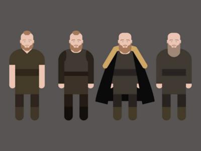 Evolution King Ragnar Lothbrok vikings minimalism vectoriel