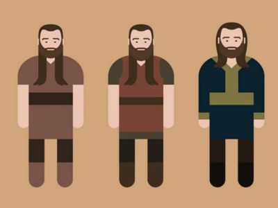 Evolution Duc Rollo Lothbrok vikings minimalism vectoriel