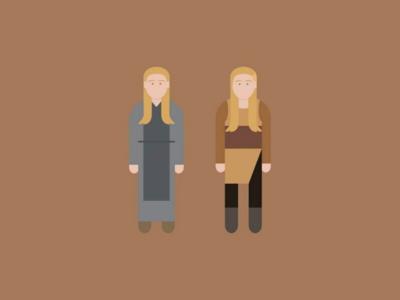Evolution Lagertha vikings graphic illustrator