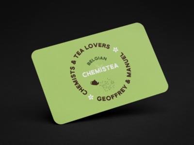 Belgian ChemisTea illustrator design tea logo