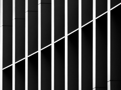 Intersection architectural graphic blackwhite
