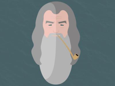 Gandalf graphic design illustration lotr thelordoftherings