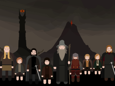 The Fellowship of the Ring fellowship minimalism graphic illustration lotr