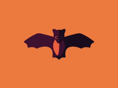 Bat halloween graphic illustrator illustration minimalism bat design