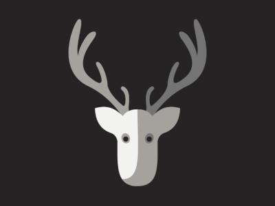 Reindeer minimalism illustrator christmas merry reindeer illustration design graphic