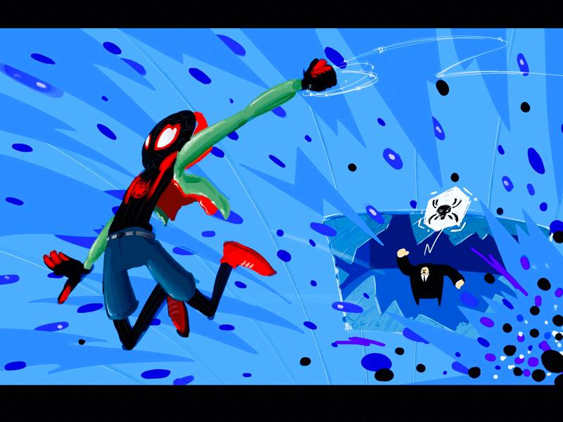 """Into the spider verse"" - Spiderman - Miles Morales sonypicturesanimation sony illustration art fanart ipadpro procreate digitalart stanlee marvel kingpin intothespiderverse spiderman milesmorales"