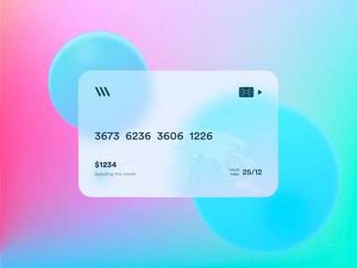 Bank card display design uidesign