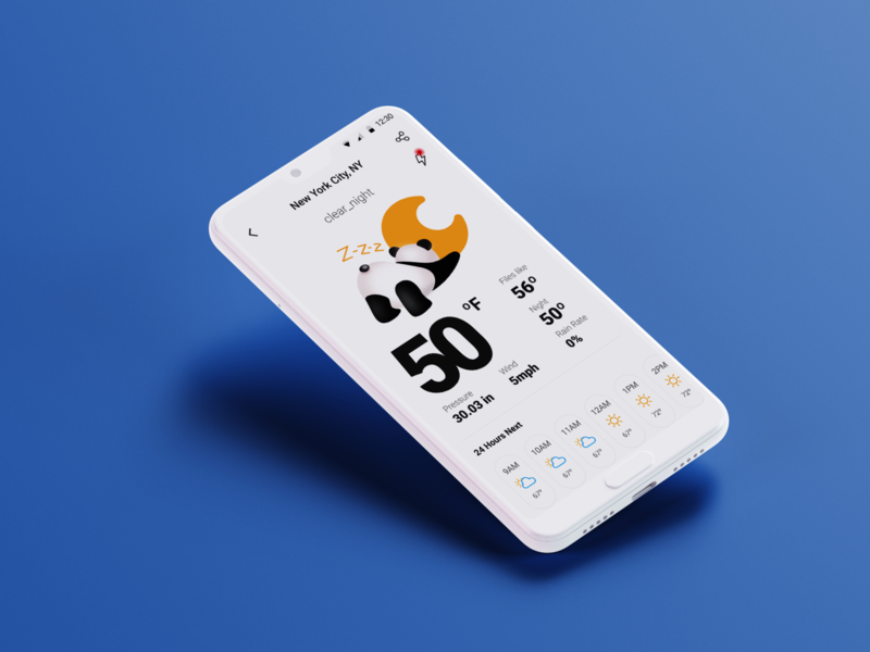 clear_night weather design illustration app ui