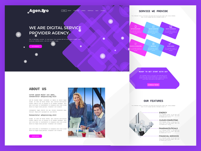Agen.Pro  Agency  Landing Page webdesign web team services design product page landing home ux ui agency