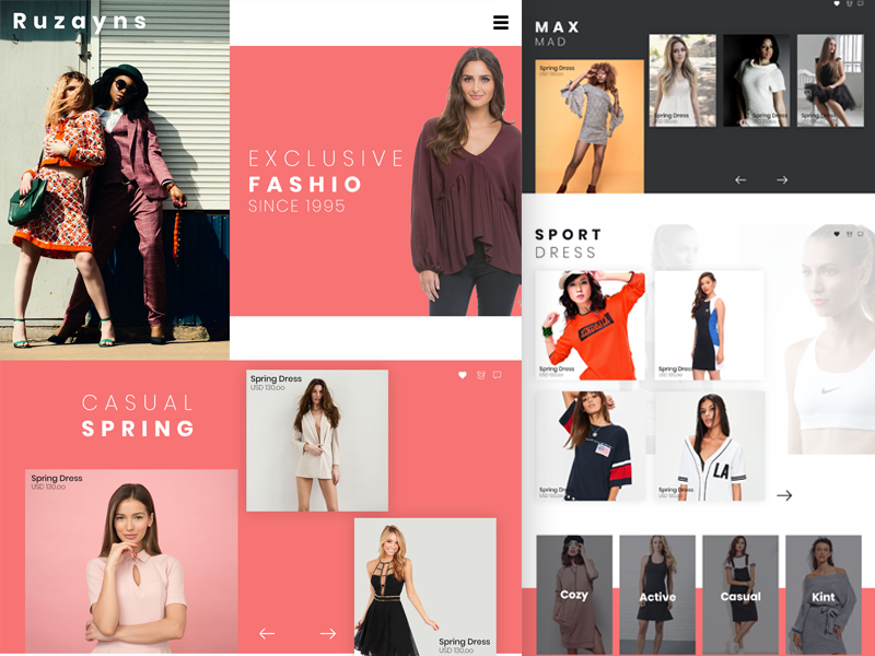 Fashion Landing Page wishlist website video timer search page landing fashion ecommerce cart to add