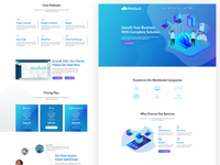Websass   Saas  Software  Startup Tech Psd Template