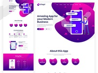 Jilapi App Landing Page Dribble Presentation