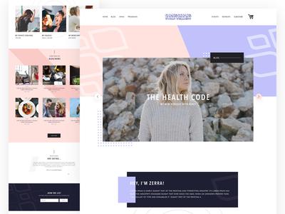 Concious World blog Website Design V2