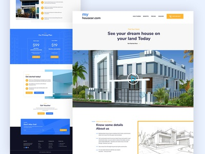 Real estate landing page WEB UI design
