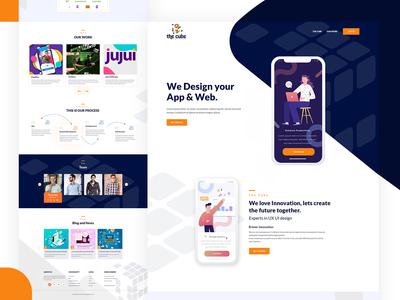 App   Web Design Agency landing page design