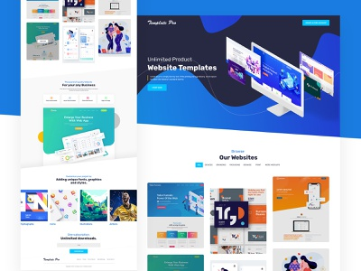 Website  Template  Marketplace themes color illustration typography web landing landing page interface design ux ui website marketplace theme marketplace