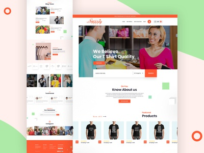 T Shirt E commerce Landing Page