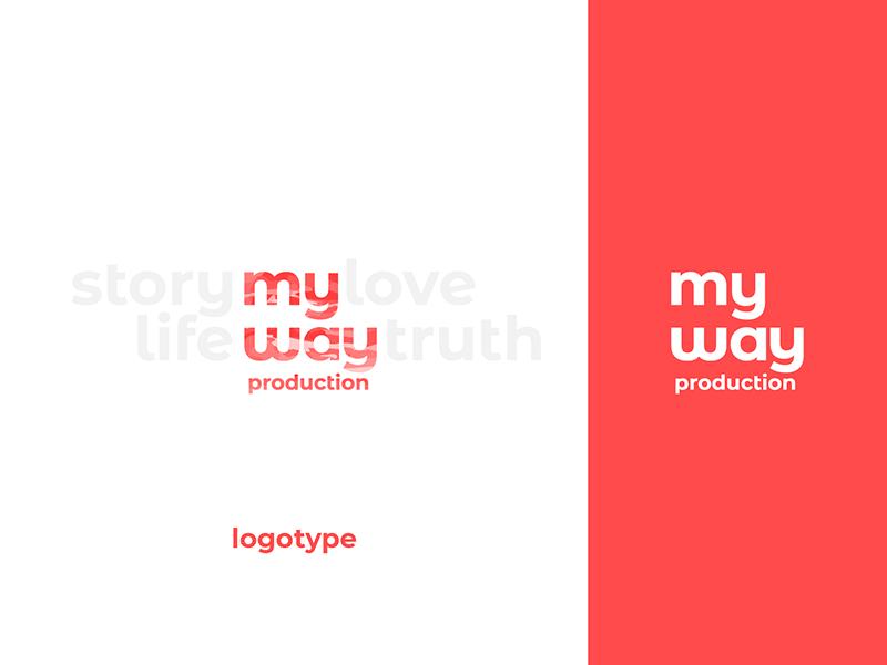 my way production branding production sans serif typography simple logo logotype identity branding brand