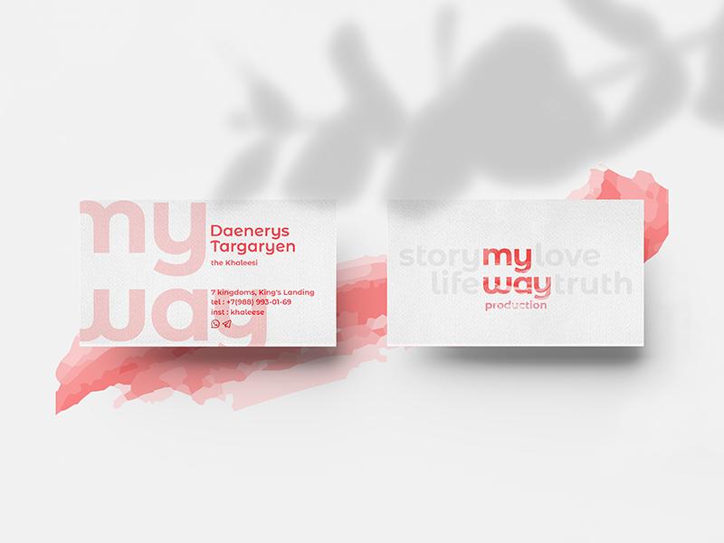 cards for my way prod. khaleesi daenerys production sans serif typography simple logo logotype identity branding brand