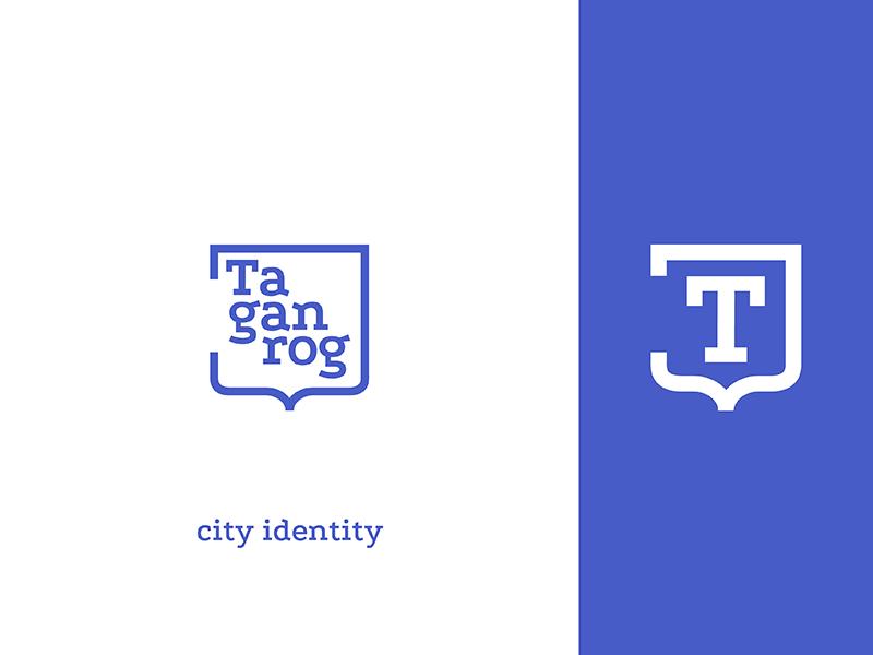 city identity for Taganrog branding brand city serif typography simple logo logotype identity
